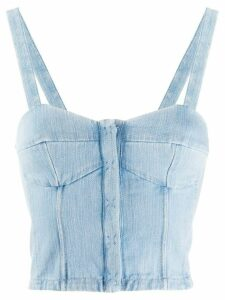 Forte Forte bustier denim tank top - Blue