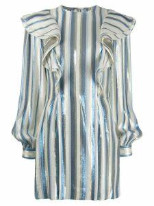 Alberta Ferretti metallic striped tunic - Blue