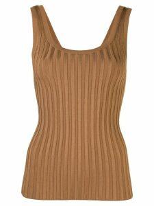 Veronica Beard ribbed vest top - Brown