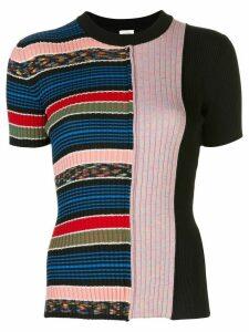 M Missoni striped print knit top - Black