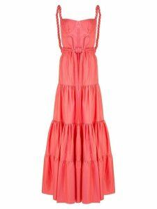 Johanna Ortiz flared tie-waist maxi dress - PINK