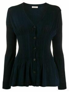 Nina Ricci fine-knit v-neck cardigan - Blue