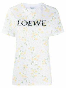 Loewe floral print logo T-shirt - White