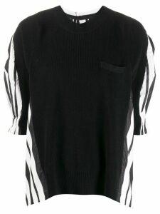 Sacai contrast panel jumper - Black