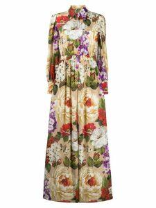 Dolce & Gabbana floral print shirt dress - NEUTRALS