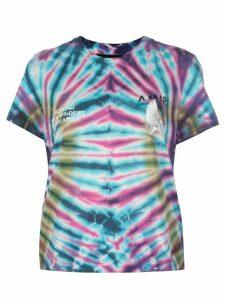 AMIRI tie dye logo print T-shirt - Blue