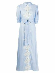 Blumarine floral lace maxi dress - Blue