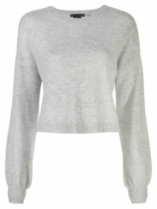Alice+Olivia Ansley cropped jumper - Grey