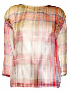 Forte Forte checked sheer top - PINK