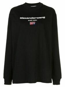 Alexander Wang logo crew-neck sweatshirt - Black