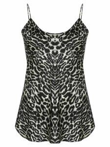 Nili Lotan leopard print cami top - Black