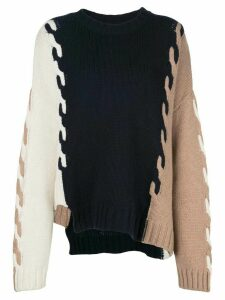 Monse colour-block oversized jumper - Blue