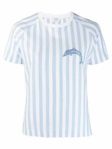 Thom Browne dolphin motif striped T-shirt - Blue