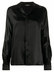 Dsquared2 open collar silk shirt - Black