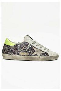 Golden Goose Sneakers Superstar Pink-Grey Glitter-Ice Suede Star - EU38 Purple