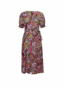 Womens Billie & Blossom Petite Pink Floral Print Midi Dress, Pink