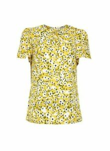 Womens Billie & Blossom Yellow Floral Print Shell Top, Yellow