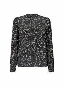 Womens Vila Black Long Sleeve Printed Top, Black