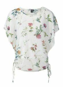 Womens Izabel London White Floral Print Bloom T-Shirt, White