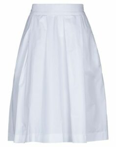 SIVIGLIA WHITE SKIRTS Knee length skirts Women on YOOX.COM