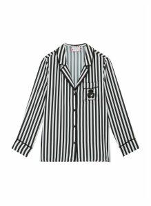 x Morgan Lane 'Kier' Stace Face graphic patch stripe pajama top