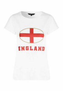 Womens White England T-Shirt