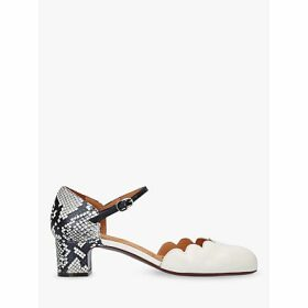 Chie Mihara Uma Two Part Block Heel Court Shoes