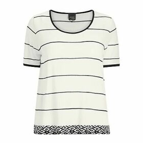 Persona by Marina Rinaldi Album Knitted T-Shirt, White