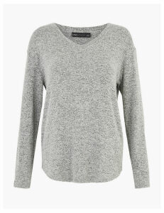 M&S Collection Luxe Touch V-Neck Relaxed Top