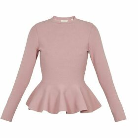 Ted Baker Lond Sleeve Knitted Peplum Jumper