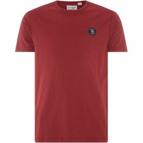 Penguin Embroidered Logo Brushed T-Shirt