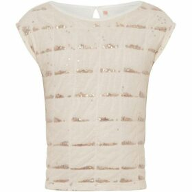 Billieblush Girl Glitter Mesh Sequin T-Shirt
