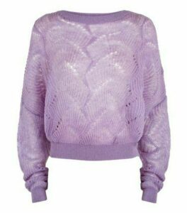Sunshine Soul Lilac Pointelle Knit Jumper New Look