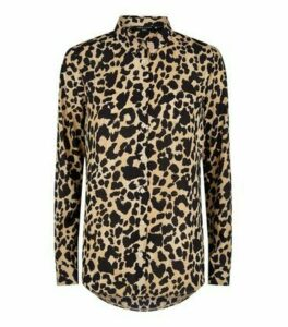 Tall Brown Leopard Print Shirt New Look