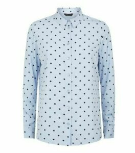 Blue Spot Long Sleeve Shirt New Look