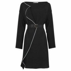 Iblues Ruggito frill tie waist dress - Black