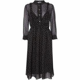 Iblues Ittico spot shirt dress - Black