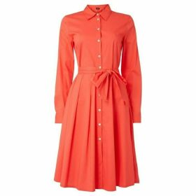 Emme Cicogna fit and flare shirt dress - Coral