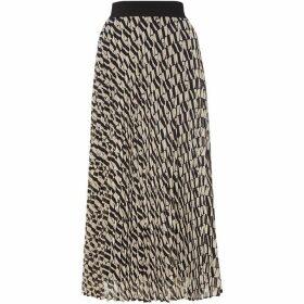 Marella Kabuki pleated long skirt - Beige