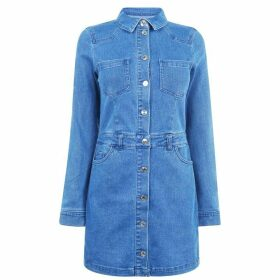 Only Cleva Denim Dress Womens - M Blue Denim