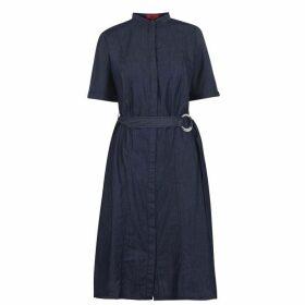 HUGO Denim Shirt Dress - Open Blue