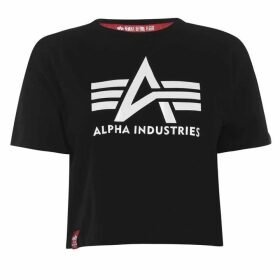 Alpha Industries Big A T Shirt - Black White
