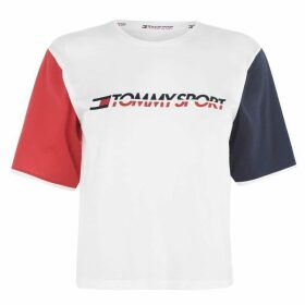 Tommy Sport Colour Block T Shirt - PVH White