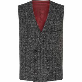 Turner and Sanderson Sherwood Wide Herringbone Waistcoat - Grey