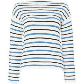 Iblues Puzzle stripe long sleeve jumper - White