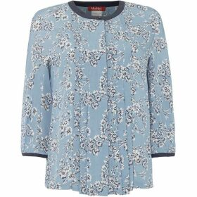 Max Mara Studio Casa floral blouse - Light Blue