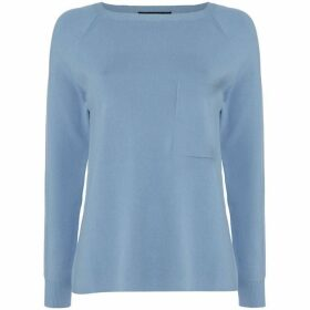 Max Mara Weekend Canapa crew neck sweater with pocket - Light Blue