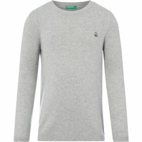 Benetton Benetton KW Crew Neck Jumper - Grey Marl