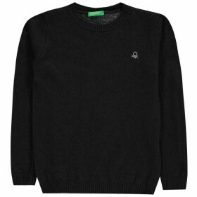 Benetton Benetton KW Crew Neck Jumper - Navy