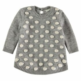 Benetton Benetton Baby Girl Pom Pom Knit Jumper - Grey